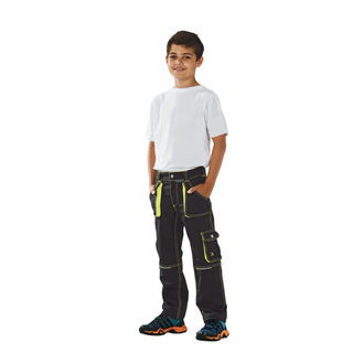 Bundhose Junior Basalt anthrazit-gelb