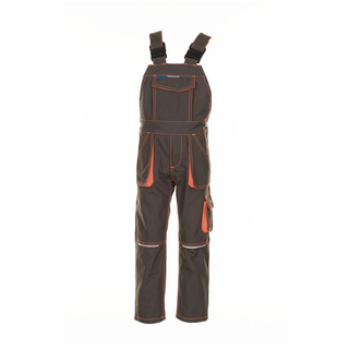 Latzhose Junior Basalt oliv-orange