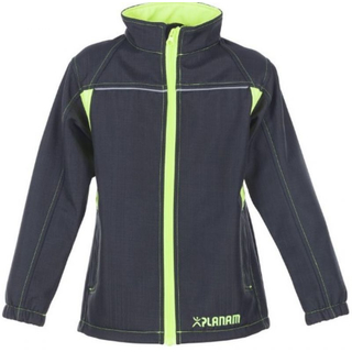 Softshell Jacke Junior Basalt anthrazite-gelb